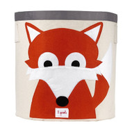 3 Sprouts Storage Bin Decor : Orange Fox