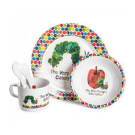 The Very Hungry Caterpillar Toddler 5 Piece Dinner Set -  Plate, Bowl, Cutlery, Cup