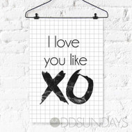 Love You Like XO Digital Printable