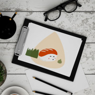 Sushi Nigiri + Mr Wasabi Digital Printable Wall Art Decor