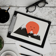 Hello Mountains Digital Printable Wall Art Decor