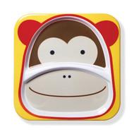 Skip Hop Monkey Zoo Kids Divided Plate