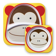 Skip Hop Monkey Zoo Plate & Bowl Set
