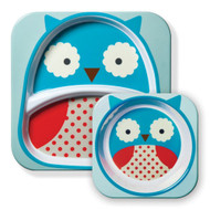 Skip Hop Owl Zoo Kids Plate & Bowl Set