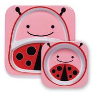 Skip Hop Ladybug Kid Plate & Bowl Set