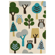 Owl In The Forest Kids Rug