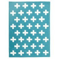 Nordic Modern Crosses Rug Blue