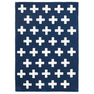 Nordic Modern Crosses Rug Navy + White