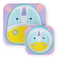 Skip Hop Unicorn Zoo Plate & Bowl Set