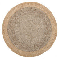 Sunset Round Jute Natural Rug - Silver