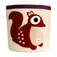 3 Sprouts Storage Bin : Berry Squirrel