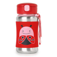 Skip Hop | Ladybug Stainless Steel Straw Bottle