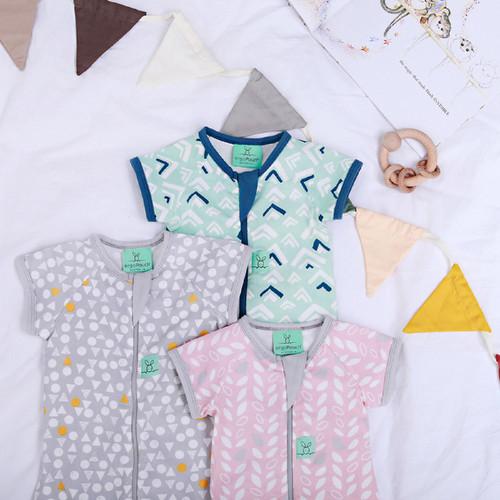 ergoLayers Cotton Short Sleeve Baby Onesie 0.2 TOG