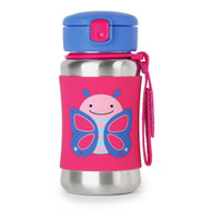 Skip Hop Toddler Stainless Steel Straw Bottle Butterfly
