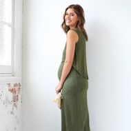 Ripe Maternity Nursing Swing Back Maxi Dress