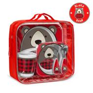Skip Hop Zoo Mealtime Gift Set - Bear (Limited Edition)