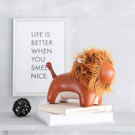 Zuny Bookend Decor - Lion Tan