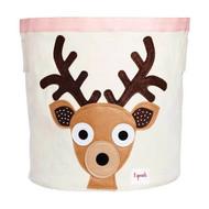 3 Sprouts Storage Bin Decor : Pink Deer