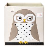 3 Sprouts Storage Shelf Box : White Owl