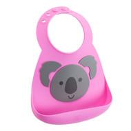 Make My Day Silicone Toddler Bibs - Pink Koala