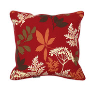 Bossima Water/Stain Guard Scatter Cushion Decor - Red Floral (Set of 2)