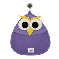 3 Sprouts Bath Storage Purple Owl