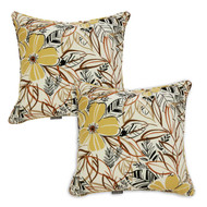 Water/Stain Guard Scatter Cushion - Flaxen Floral - Set of 2