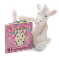 Jellycat If I Were A Unicorn Book + Bashful Unicorn Toy Set