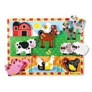 Melissa & Doug Wooden Chunky Puzzle - Farm