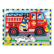 Melissa & Doug Wooden Chunky Puzzle - Firetruck