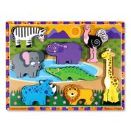 Melissa & Doug Wooden Chunky Puzzle - Safari
