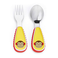 Skip Hop Monkey Fork & Spoon Utensil Set