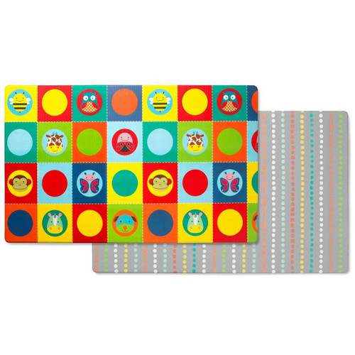 Skip Hop Doubleplay Reversible Play mat -Zoo/Multi Dots