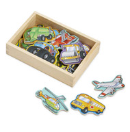 Melissa & Doug Box of 20 Wooden Vehicles Magnets
