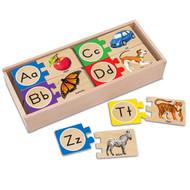 Melissa & Doug Self-Correcting Alphabet Puzzle Cards