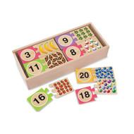 Melissa & Doug Preschooler Numbers Puzzle Cards