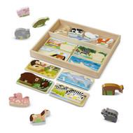 Buy Melissa & Doug Chunky Animal Picture Boards Puzzle Toy Online