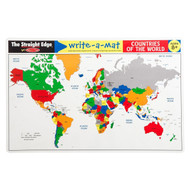 Melissa & Doug Write A Mat Placemat - World Map