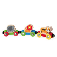 Hape Toddler Wooden Jungle Journey Train Set