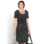 Buy Maternity Nursing Dress  - Black with White Spots