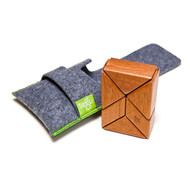 Tegu Magnetic Prism Pocket Pouch - Mahogany