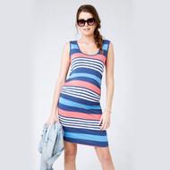 Ripe Maternity Stripe Nursing Tube Dress - Maritime