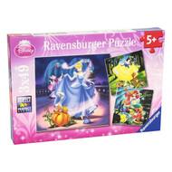 Ravensburger Disney Princesses Puzzles - Snow White, Cinderella & The Little Mermaid