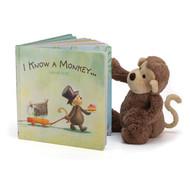 Jellycat Bashful Monkey & Book Set