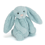 Soft medium Jellycat Bashful Aqua Bunny Toy