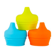 Boon Snug Universal Sippy Lids : Orange Set