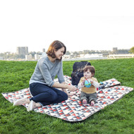 Skip Hop Central Park Triangles Blanket & Cooler Bag