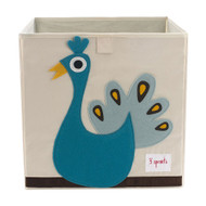 3 Sprouts Storage Shelf Box : Blue Peacock
