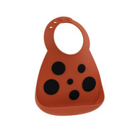 Buy Make My Day Red Ladybug Silicone Bibs
