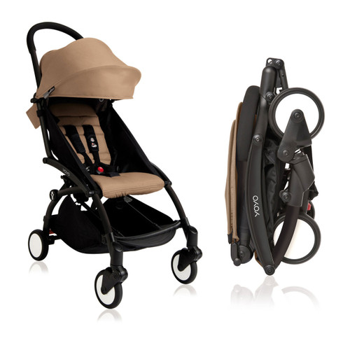 Babyzen Yoyo Plus Stroller Yoyo Black Frame Taupe Cover